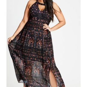Maxi So Abstract Dress